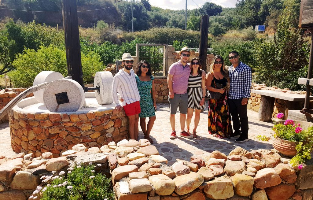 Wine and olive oil Tasting in Crete - group photo
