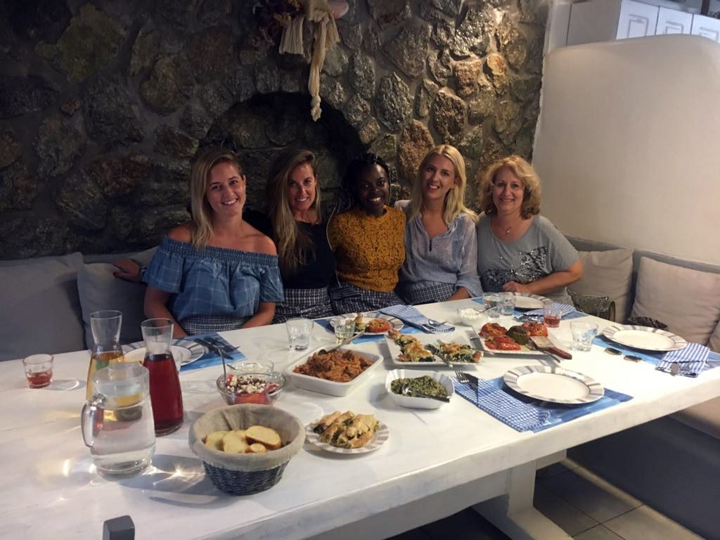 Eating after the Cooking Class in Mykonos
