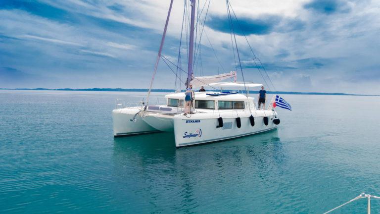 Luxury catamaran Halkidiki sailing cruise